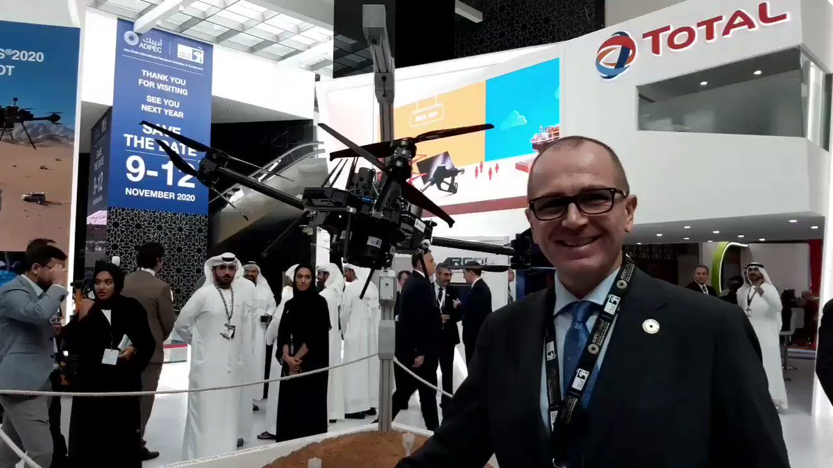A lot of interesting things today at #ADIPEC2019. This #Drone can be used to gather information to assist #oilandgas companies to discover the best place to drill and upstream oil in an effective way. @ADIPECOfficial @AdnocGroup #oilandgas40 #innovation #energy @antgrasso