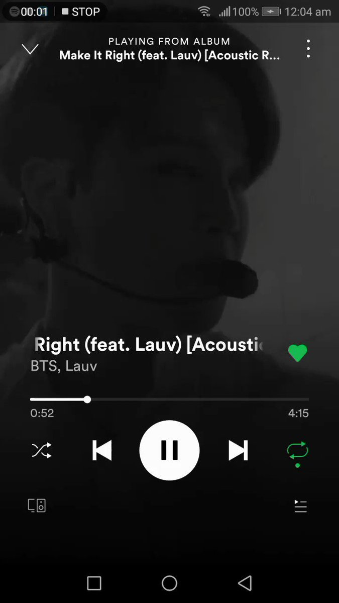 Ohhhh I just noticed they have this BTS Make It Right vertical version on Spotify!! @BTS_twt  #MakeItRightAcoustic  #BTSStreamingParty