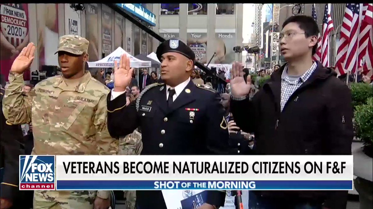 Thank you again to @foxnews and @foxandfriends for including me in yesterday's Naturalization Ceremony in which 12 veterans were sworn in as US Citizens! This video is a great recap of an incredibly special day! 🇺🇸