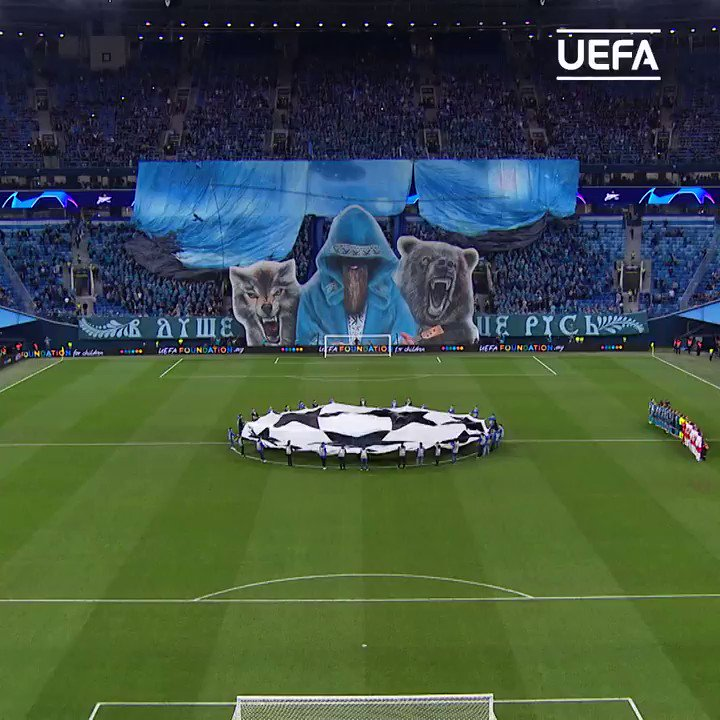 This Zenit tifo 😍😍😍Which #UCL team has the most creative fans? 🤔🌊@zenit_spb