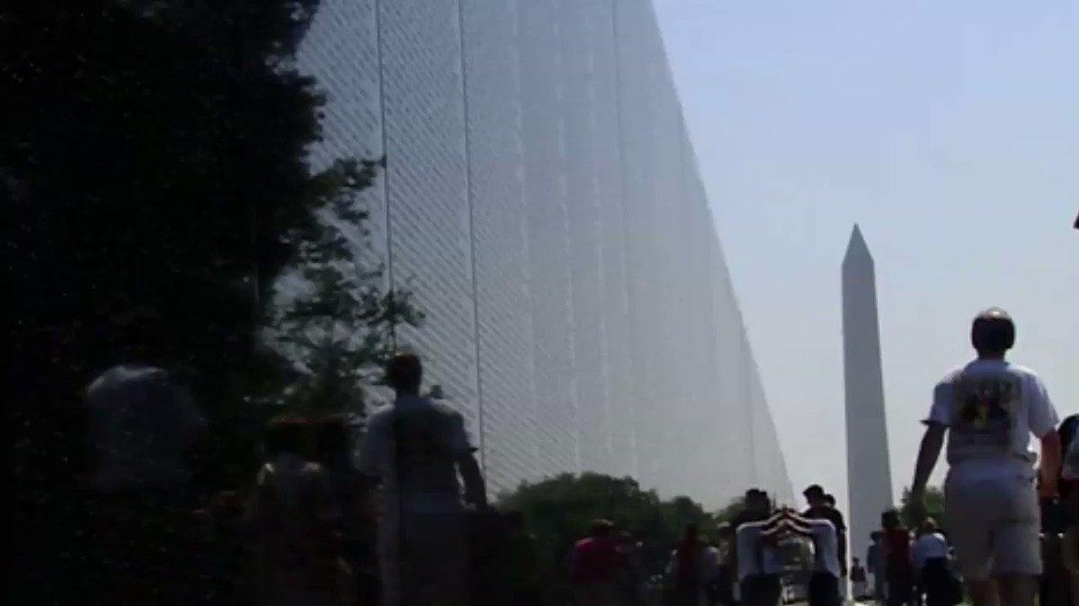 Vietnam Veterans Memorial was dedicated today in 1982. 🇺🇸 #Heroes #1u #UnionStrong #Remember #Vets video via @GlobalGrind