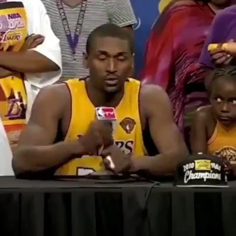 He never passes me the ball... KOBE PASSED ME THE BALL! Happy birthday to Ron Artest
