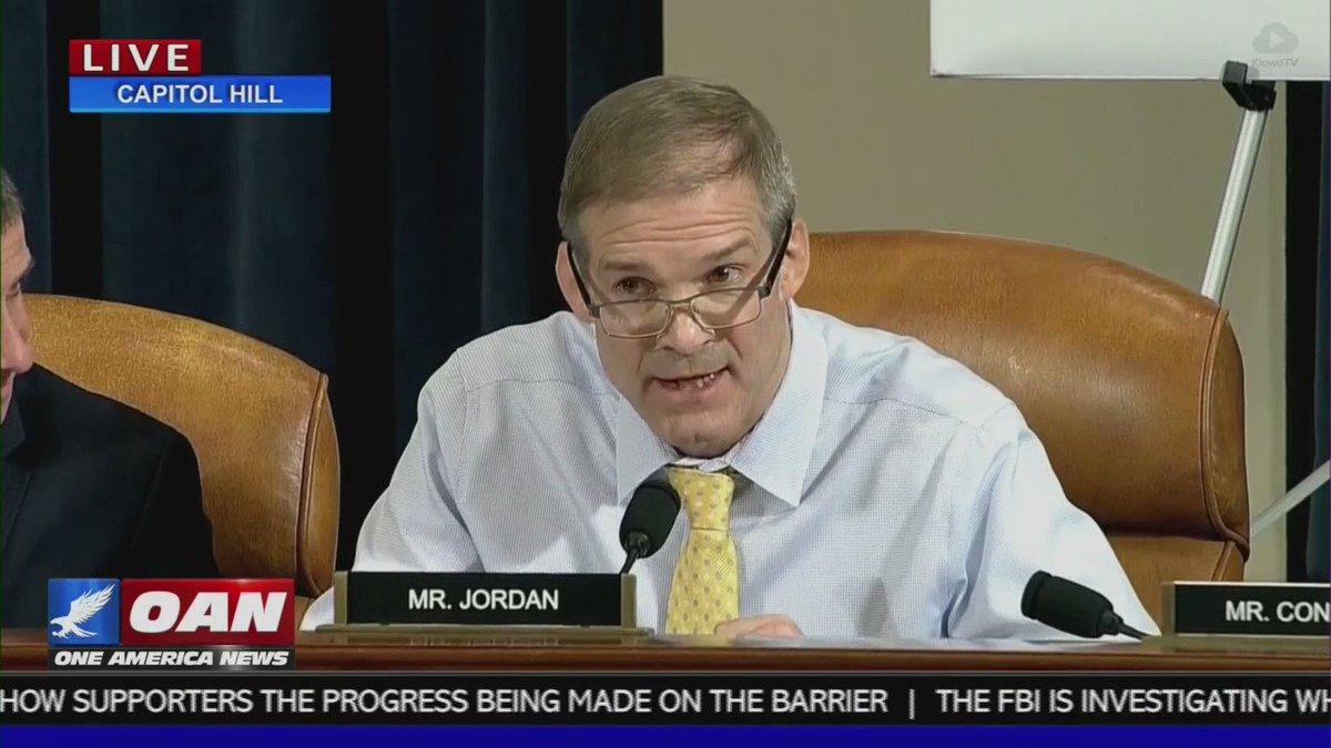 Image for the Tweet beginning: Jim Jordan absolutely obliterates the