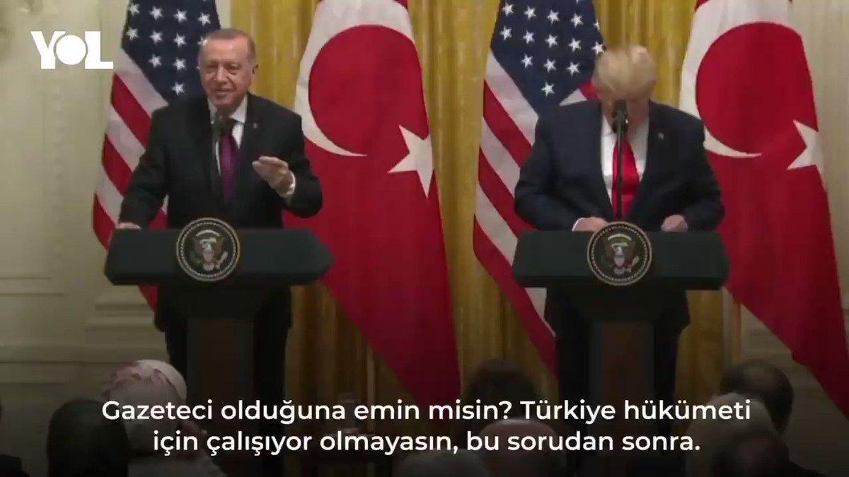 Trumptan Sabah gazetesinden Hilal Kaplana: Gazeteci olduğuna emin misin? Türkiye hükümeti için çalışıyor olmayasın?
