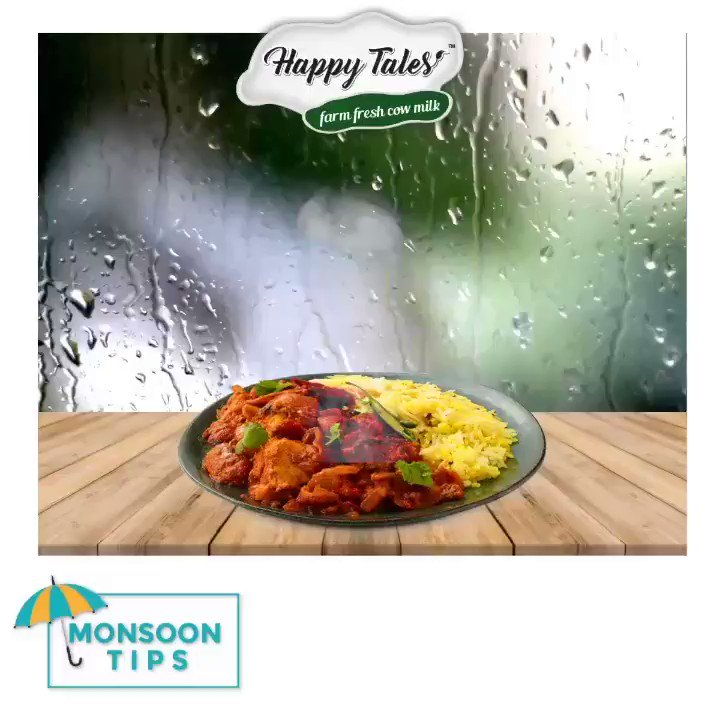 👉 Monsoon's humid weather and open street food breed bacteria and insects, which your tummy could fall prey to.  Happy Tales by midvalleyfarm advices you to stick to your favourite home-mades this season!Monsoon Tips #2⛅🌦🌧🌨❄☃☔#HappyTales #Midvalleyfarm #Farm #Fresh