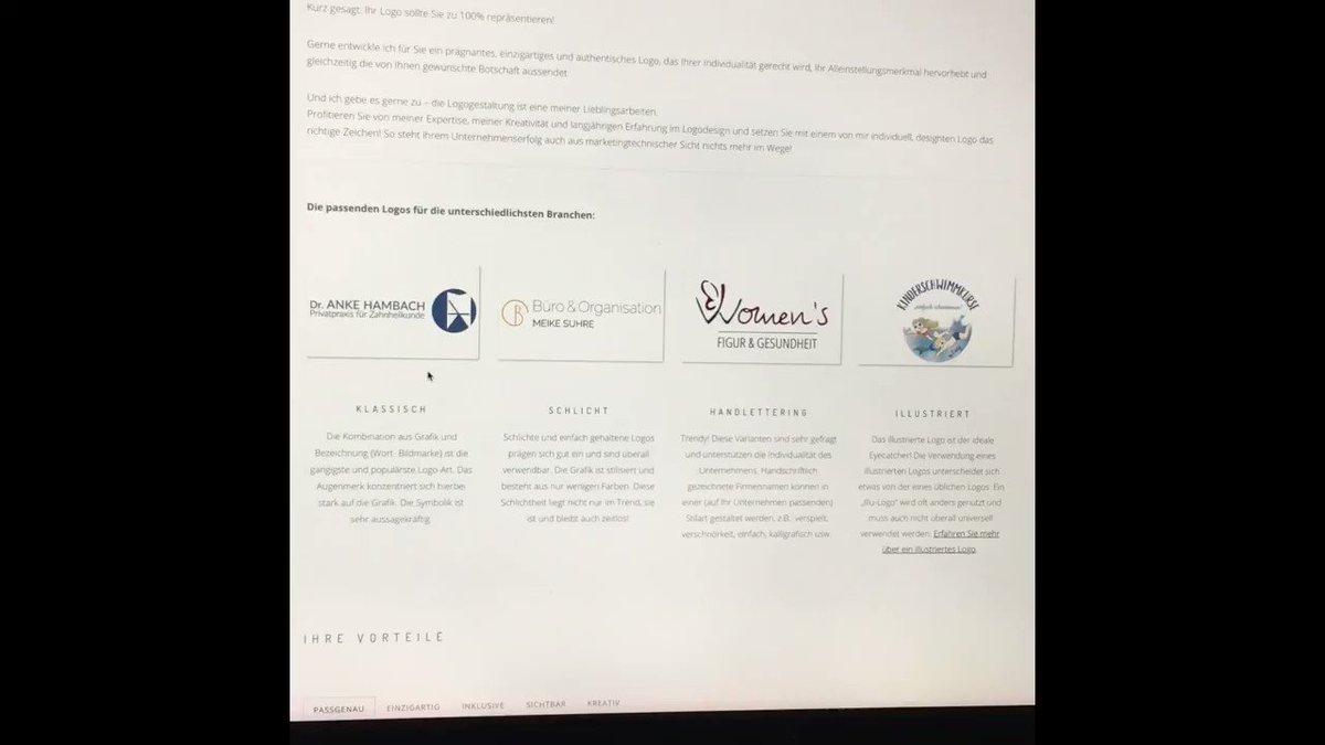 Die dritte #Unterseite, die ich Euch heute vorstelle, behandelt das Thema #Logogestaltung:  #logodesign #logomaker #branding #logoerstellung #logoentwicklung #grafikdesign #corporatedesign #grafikbüro #logoart #gestaltung #logo #designleistungen #design