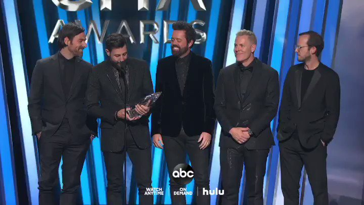 What an amazing night. Thank you. #cmaawards #vocalgroupoftheyear #weareolddominion @CountryMusic