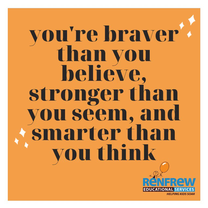 """""""You're braver than you believe, stronger than you seem, and smarter than you think."""" – A.A. Milne.  #WordsToLiveBy #Quotes #WorldKindnessDay #QuotesToRemember #InspirationalWords #RESCalgary #LifeQuotes #AAMilne"""