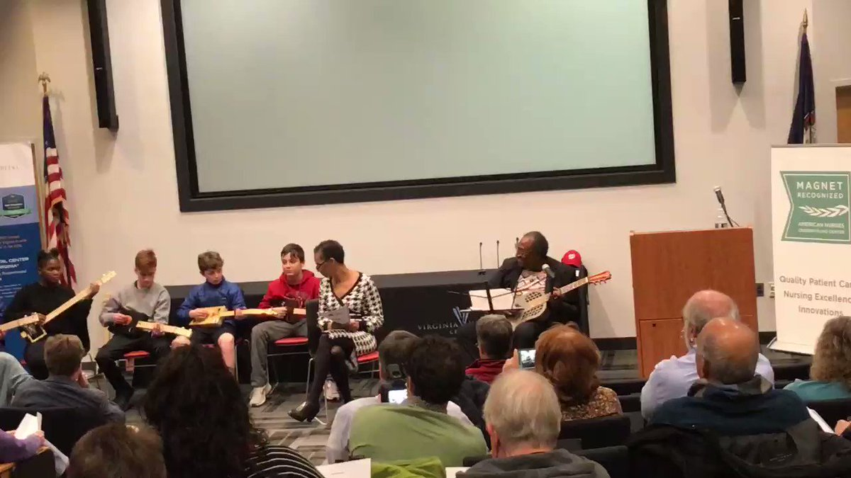 Rick Franklin plays the Blues with CTE students ⁦<a target='_blank' href='http://twitter.com/KMSteched'>@KMSteched</a>⁩ at the Halls Hill presentation last night. The presentation took place at Virginia Hospital Center. Thanks to the Virginia Humanities grant for making this night possible. <a target='_blank' href='https://t.co/qCR6toHevl'>https://t.co/qCR6toHevl</a>