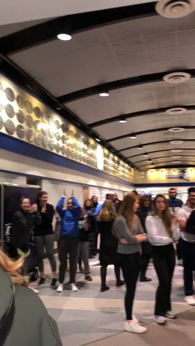 Lovely send off as we head to Rutgers for the first round of NCAA play. Let's go Blue Devils💙 #findaway