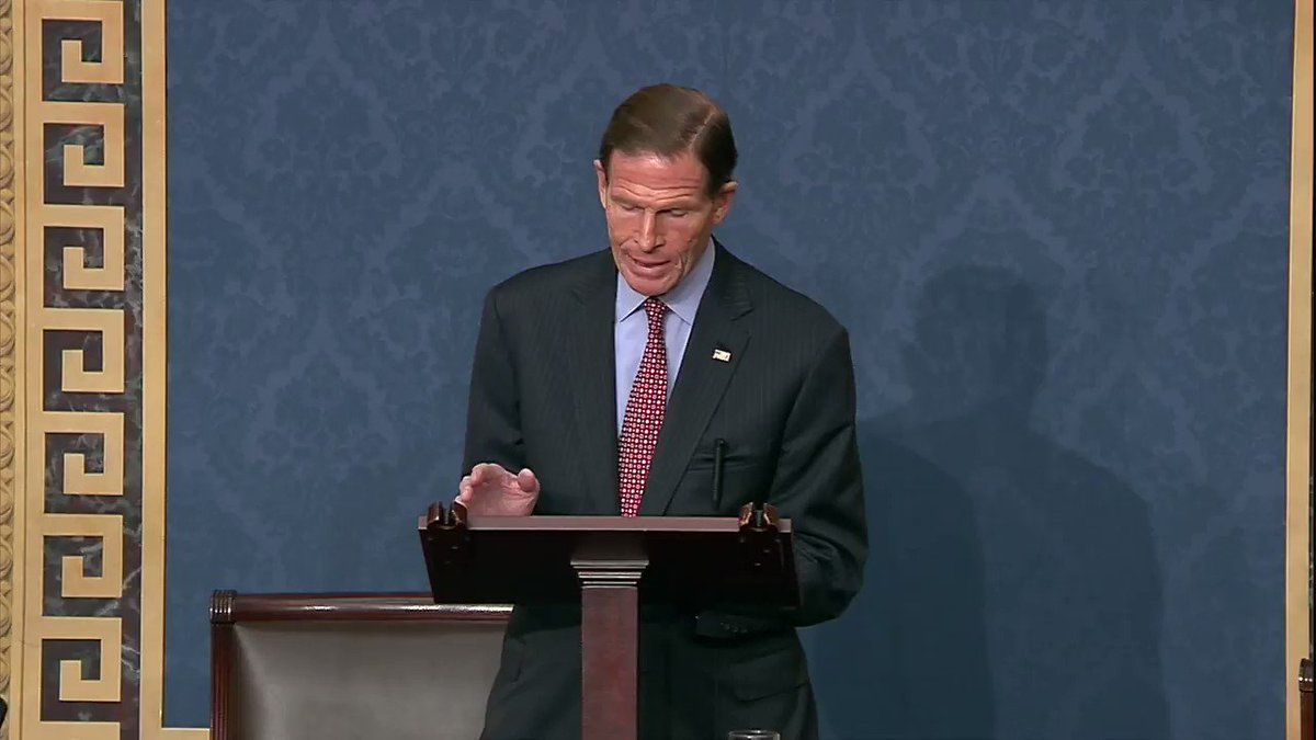 Video: Sen. Blumenthal was delivering a floor speech on gun violence when an aide handed him a piece of paper about the Santa Clarita, HS shooting How can we turn the other way? How can we refuse to see that shooting in real-time demanding our attention, requiring our action?