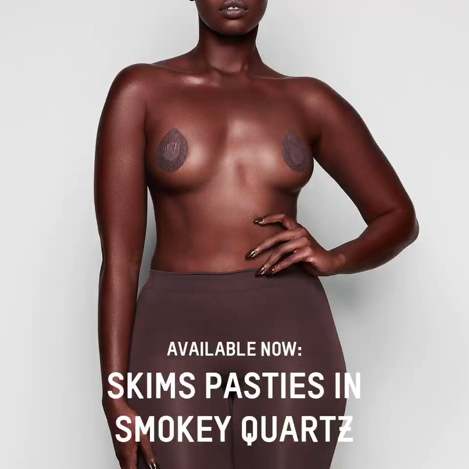 Available now: @skims  Pasties in Smokey Quartz at  http://skims.com