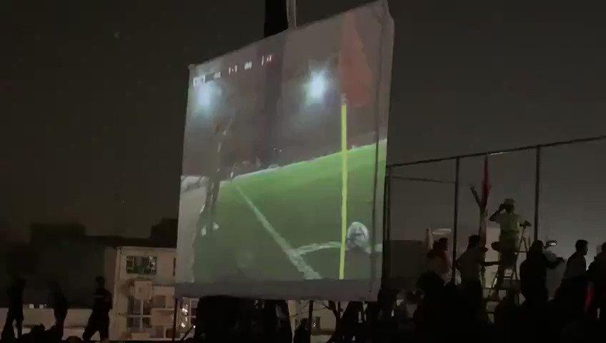 #ساحة_التحرير لحظة تسجيل الهدف على #إيران