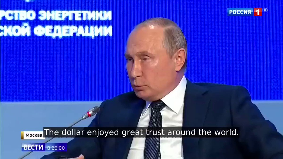 "Image for the Tweet beginning: Vladimir Putin: ""The Dollar Enjoyed"
