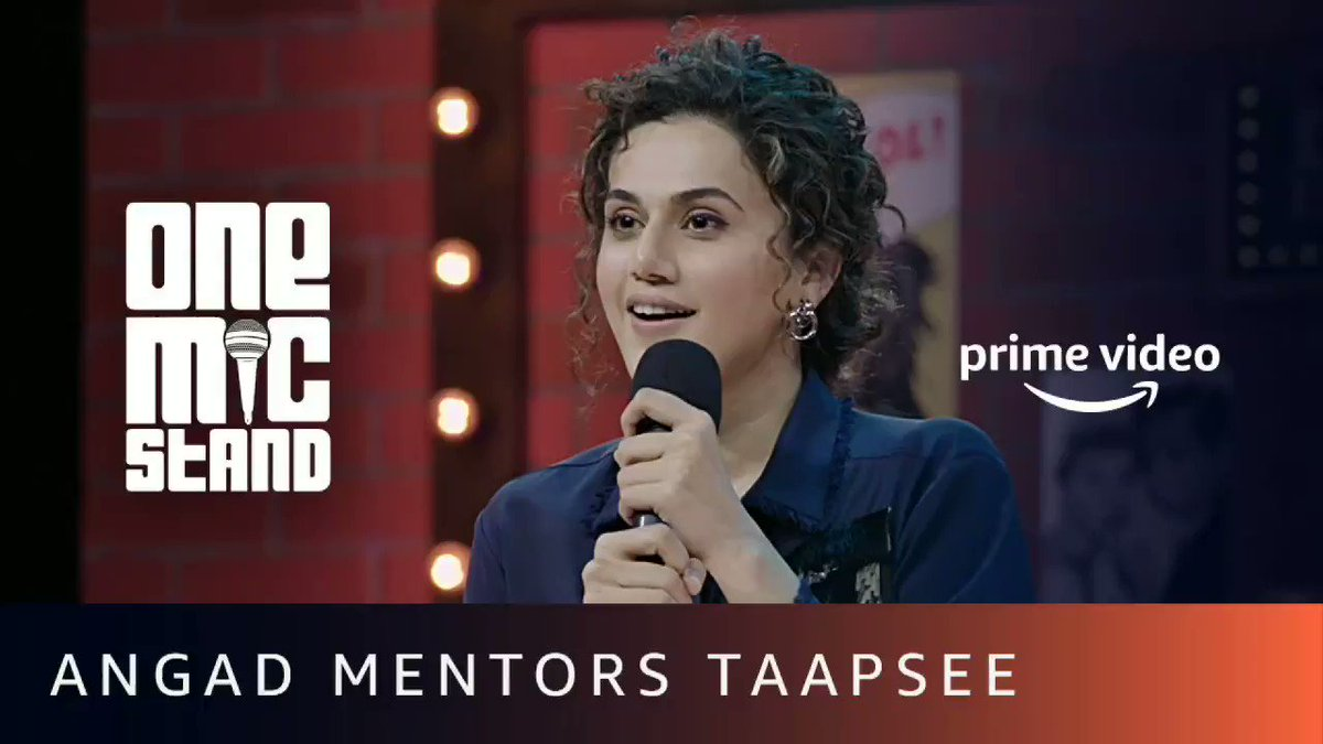 .@taapsee went from fun taapsee to funny taapsee in mere 30 mins 🤪 @PiratedSardar #OneMicStand