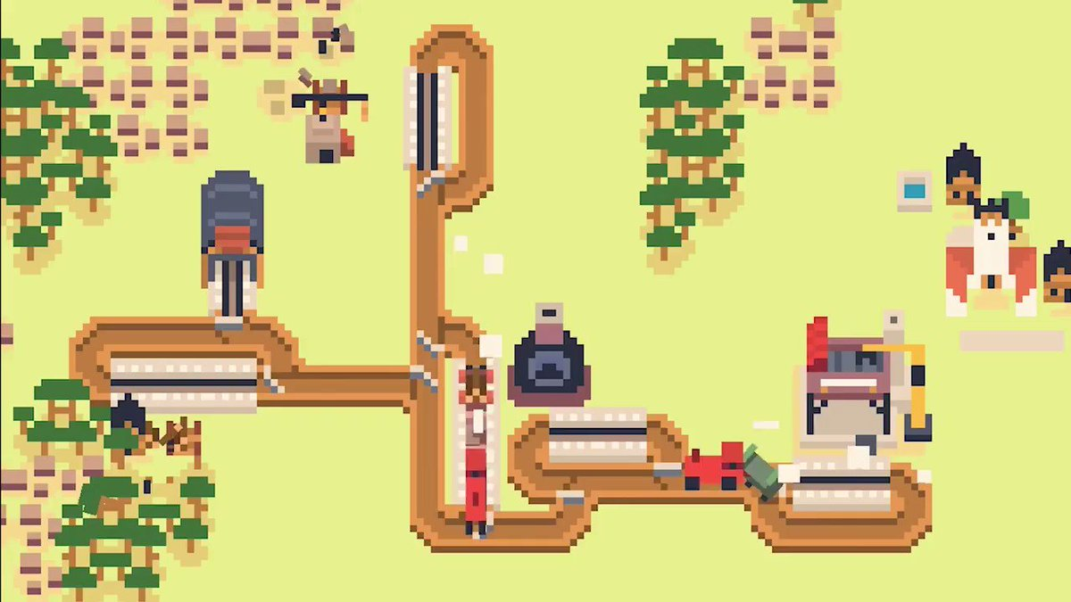 🚂 Soko Loco Deluxe is a cute train tycoon game! Youll place tracks and buildings, assign workers, and manage train schedules. Collect planks, bricks, and steel to build more infrastructure, and feed towns to grow their population. From the @sokpopco crew 🧦