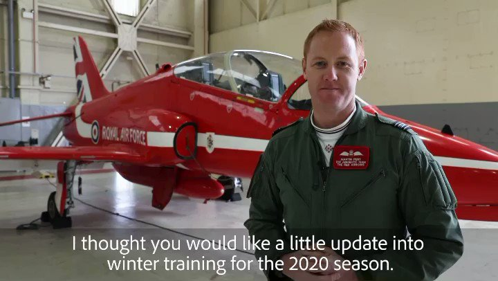Here is an update from Red 1, Squadron Leader Martin Pert on the progress of training so far. https://t.co/WcLB8dtOn1