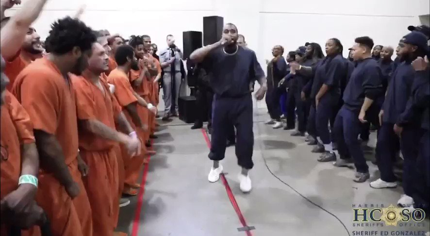 Kanye brought Sunday Service to Houston's Harris County Jail today.   https://youtu.be/fQIUPjQx16s