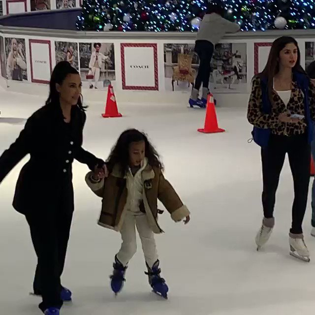 Kim & North at The Galleria in Houston today. Video by: michaelmartinez