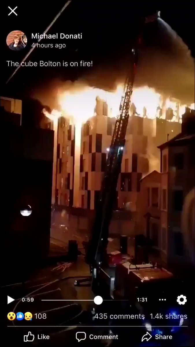 How has this happened again 2 YEARS after Grenfell?? The Tories just do not care about keeping ordinary people safe. #boltonfire