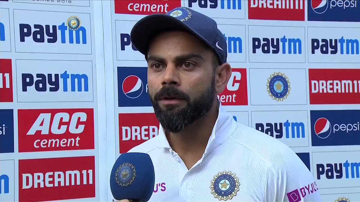 """""""Our focus has been to take Indian Cricket forward and keep the standards up"""" - @imVkohli"""