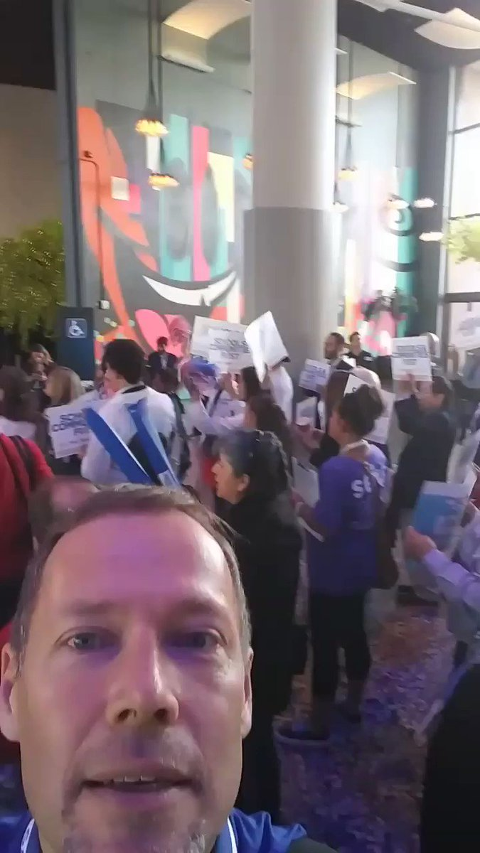 Making noise for #SchoolsAndCommunitiesFirst at #CADEM19 Calif Dem Convention in Long Beach with #SEIU