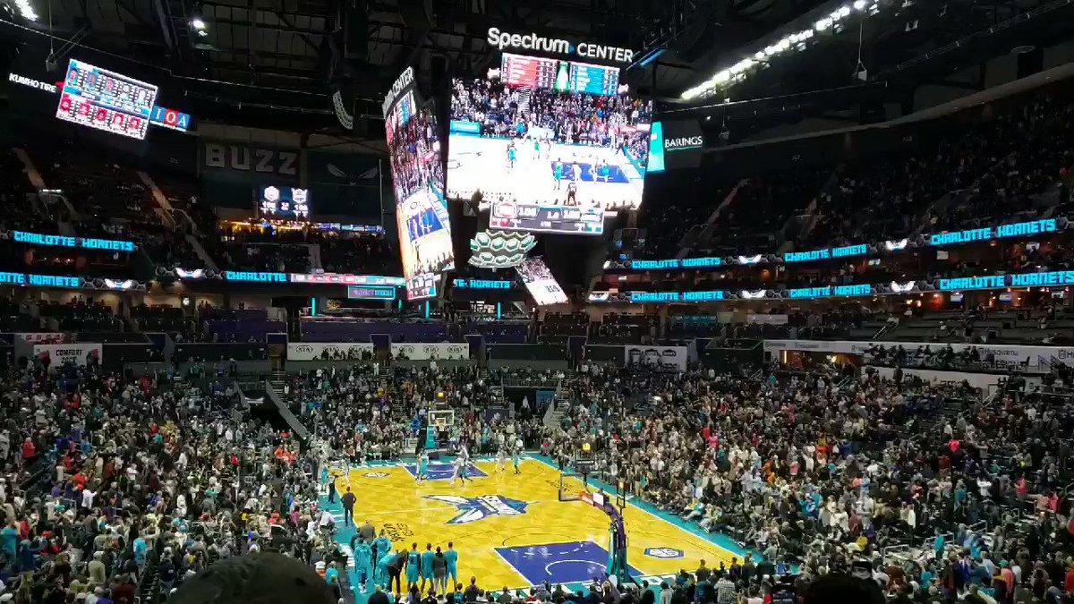 About Last Night... Kemba Who?  What a treat to witness the Malik Monk @AhmadMonk buzzer beater trey at The Hive with only 1.0 sec on the clock! #DETatCHA #TissotBuzzerBeater #AllFly #NBA @hornets @spectrumcenter @kentom @FoxSportsCLT @FOXSportsSouth @HornetsOnFSSE @ashahahmadi – at Spectrum Center