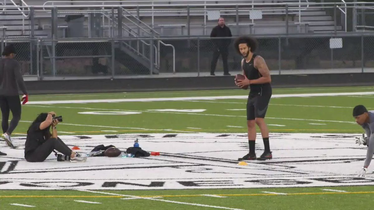 Colin Kaepernick works out for NFL teams after last-second venue change: 'I've been ready for 3 years. I've been denied for 3 years. We all know why.'