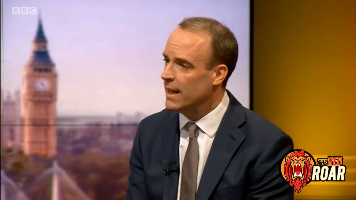 Image for the Tweet beginning: WATCH: Dominic Raab admits there's