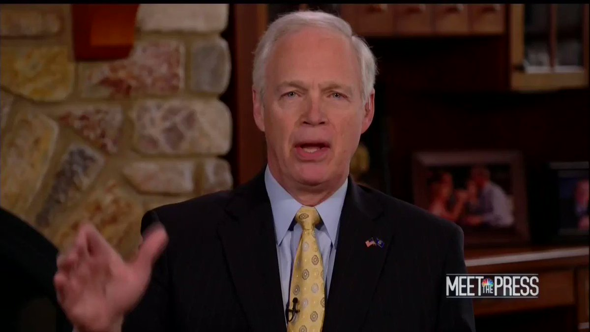 Ron Johnson is such an embarrassment to WI. He's complaining that Dems wanted to impeach Trump after his inauguration, yet RoJo advocated for impeaching HRC before the election occurred! If HRC was elected and did what Trump did, we know what RoJo would do