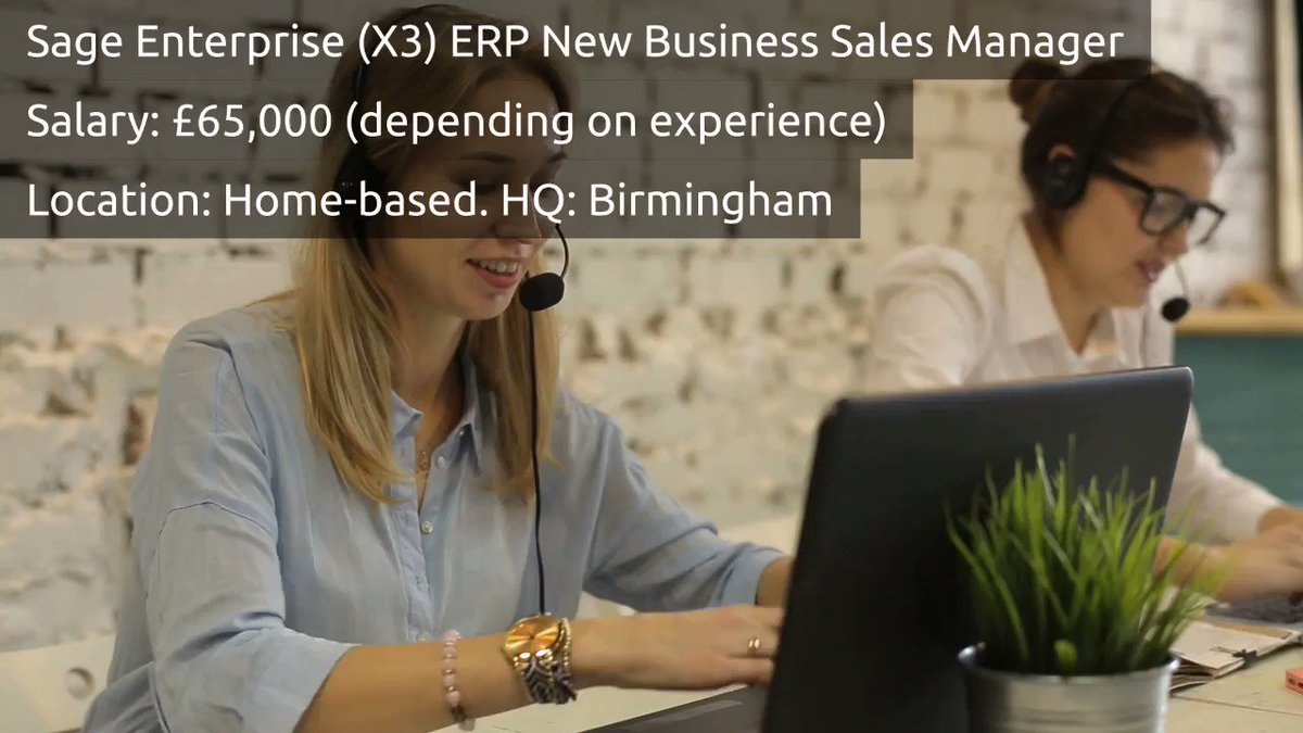 Sage Enterprise (X3) ERP New Business Sales Manager - HOME-BASED - £65,000 (depending on experience) - Watch the video below to find out more and make sure to click to apply!! -> https://buff.ly/2na0V6f  #ERP #ERPJobs #NewBusinessJobs #SalesManagerJobs #HomeBasedJobs #NewJob #Sage