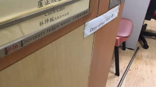Scene of Blood in a Room Where Medics and Injured Civilians Once Hid From the Riot Police; Their Whereabouts Unknown Read the letter of apology left by them in the room: t.me/guardiansofhon… Source: Stand News #Nov18 #PolyU #HumanitarianCrisis