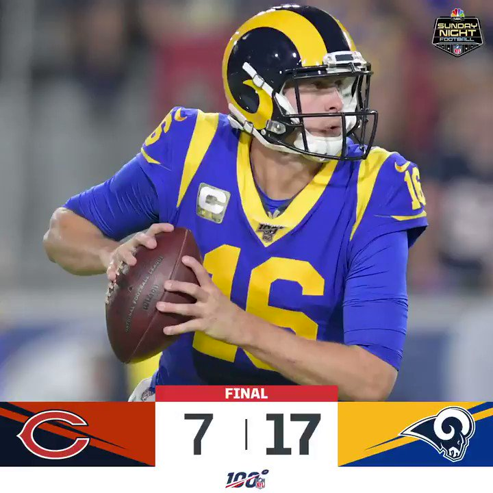 Image for the Tweet beginning: FINAL: @RamsNFL improve to 6-4!