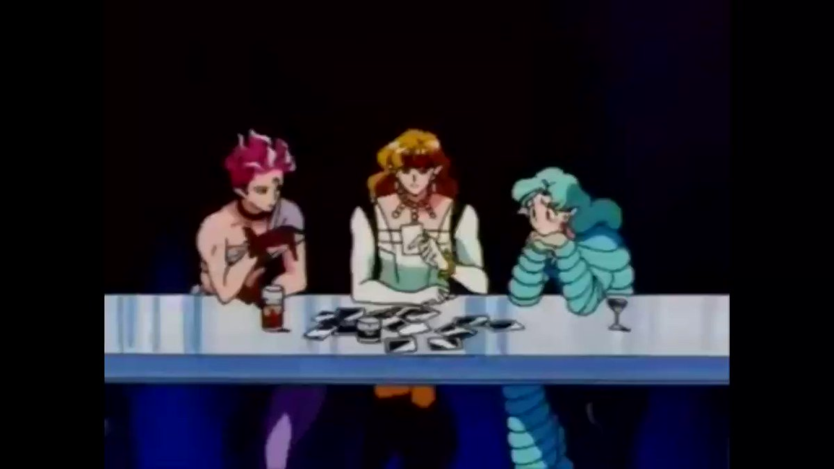完全に友人の布教で、フィッシュ・アイ(右)ですね。ちなみに、タイガーズ・アイ(真ん中)(cv.置鮎龍太郎さん)ホークス・アイ(左)(cv.古川登志夫さん)です。見納めください(土下座) #あなたの石田彰はどこから