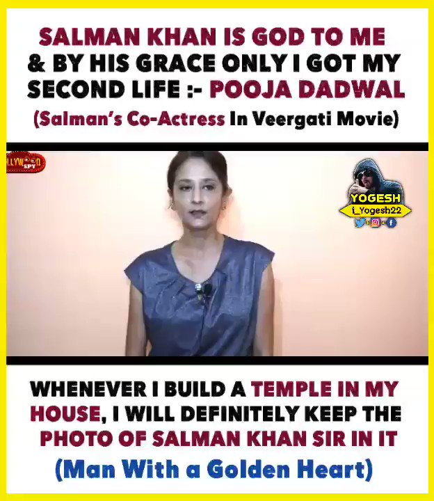 No One Can Do, What #SalmanKhan Sir has Done For Me, He's Like God To Me, He has Given Me My 2nd Life | He Supported Me Like his Own Family Member In My Tough Times | Whenever I build a Temple In My House, I Will Definitely Keep Salman Khan Sir's Pic In It :- #PoojaDadwal (Co-A)