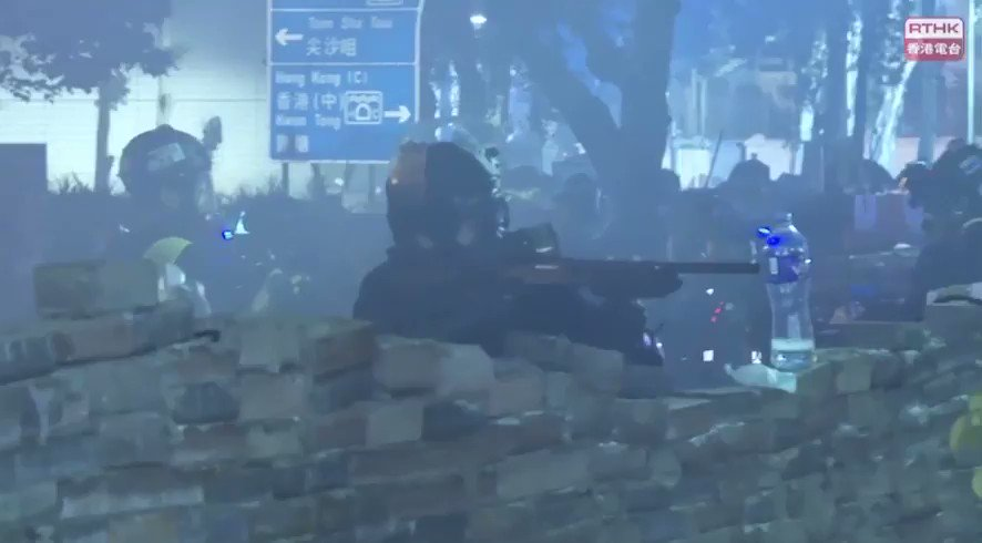 Hong Kong Police violence against protester #polyU #PolyUHK #PolyUMassacre #StandWithPolyU #StandwithHK #StandWithHongKong #YNWA