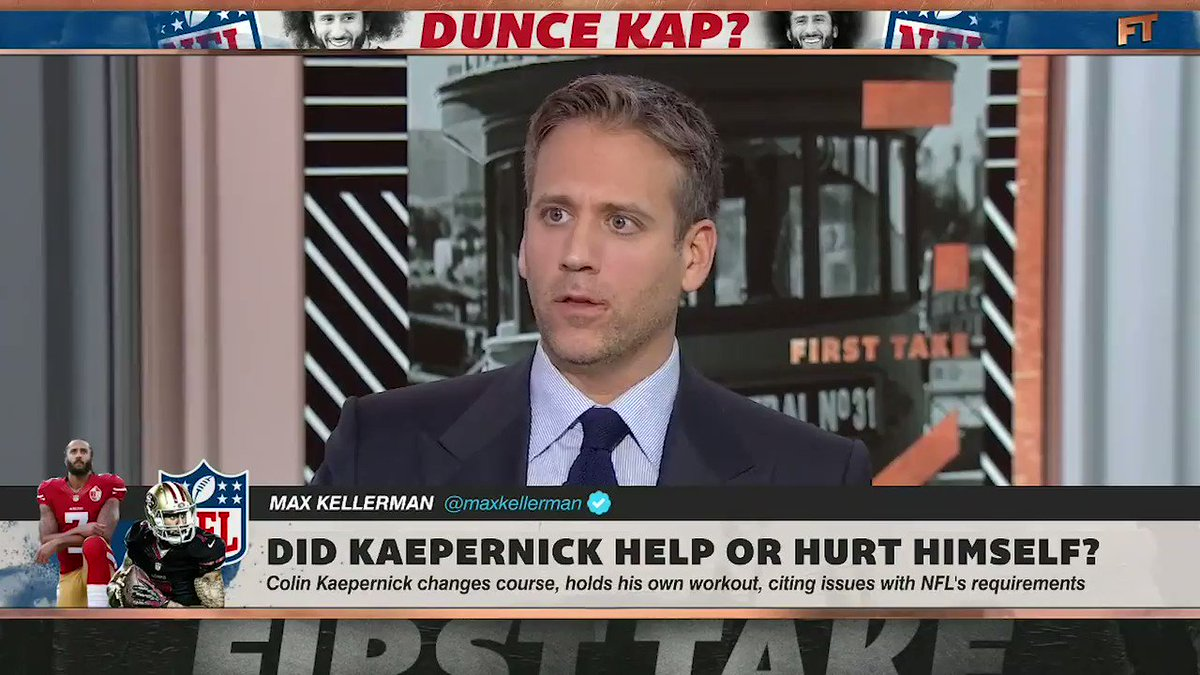 Max Kellerman shut down Stephen A. Smith on Colin Kaepernick workout