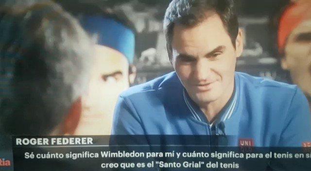 """😱@rogerfederer en @TyCSports: """"En #Wimbledon me siento como en el patio de mi casa, como #Riquelme en la cancha de #Boca"""" 💙💛🔟"""