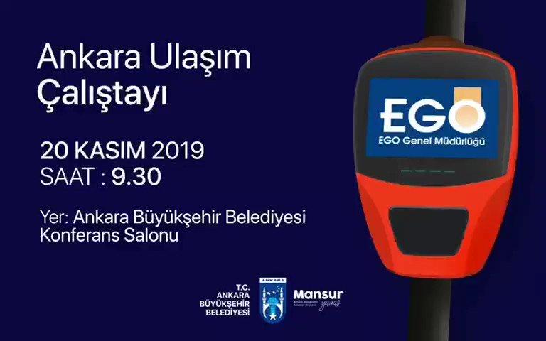 """EGO Genel Müdürlüğümüz tarafından düzenlenen """"Ankara Ulaşım Çalıştayı""""nda STK'lar ve uzmanlarla bir araya geleceğiz. Başkentimizin toplu ulaşım konusundaki politikalarını bilimsel ve katılımcı bir bakış açısıyla belirleyeceğiz."""