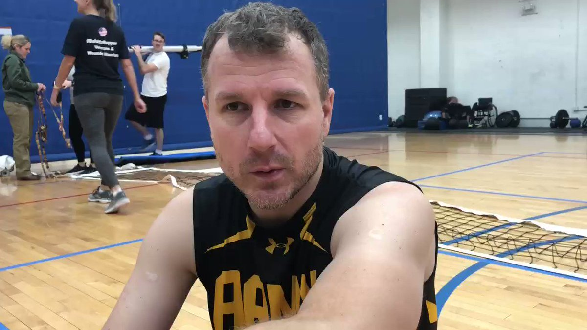 People play adaptive sports for a variety of reasons. For @InvictusTeamUS sitting volleyball player Tim Bomke, the games help with health and rehabilitation. #InvictusGames #KnowYourMil