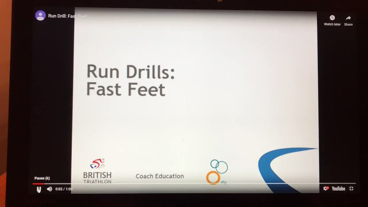 Image for the Tweet beginning: This run drill is one