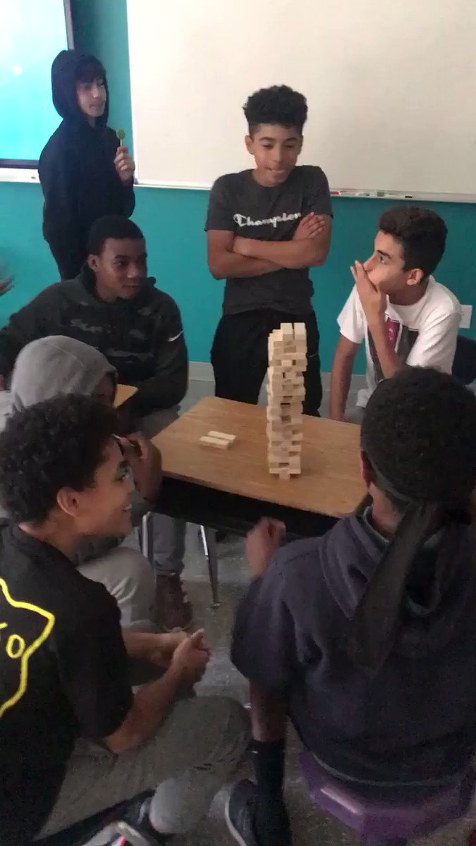 On Friday, it was choice day in our 8th grade Boyz to Men Phoniex Time Learning Seminar. (try saying that 5 times fast)   This was a very intense game of Jenga! <a target='_blank' href='https://t.co/h0BK5gOzzA'>https://t.co/h0BK5gOzzA</a>