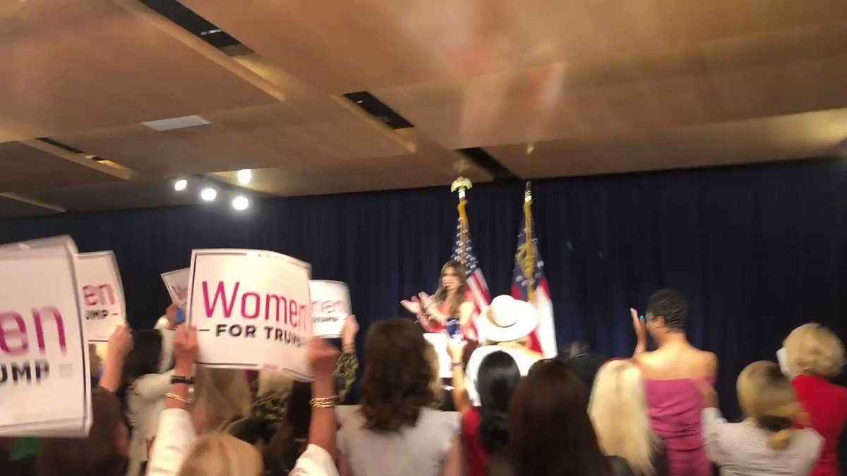 High energy tonight with @kimguilfoyle! #WomenForTrump are ready to #MAGA and FOUR MORE YEARS of President @realDonaldTrump! #gapol