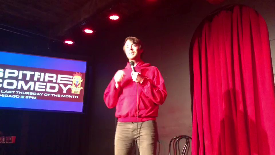 """Chicago! This Thursday come on out to iO for the next Spitfire Comedy Show! Get an extra free ticket at spitfirecomedyshow.com by using the code """"THANKS"""" and check out this clip of the hilarious @geoffreyatm"""