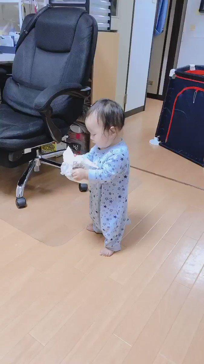 娘ちゃんが最近よく歩きます🚶♀️#生後8ヶ月