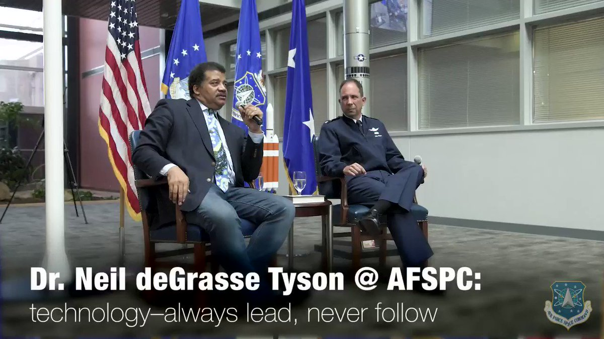 We have to combat todays conflict with tomorrows technology. Check out what Dr. @neiltyson had to say about innovation when he visited AFSPC Headquarters!