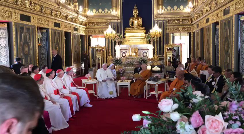 Image for the Tweet beginning: VIDEO INSIDE: #PopeinThailand Makes Visit