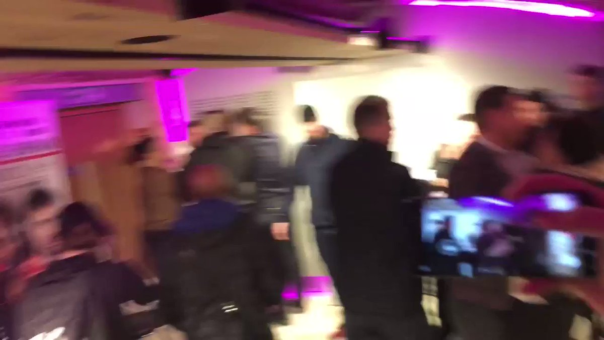 There has been an incident between James Gallagher and Mike Kimble backstage at the #BellatorLondon media day.