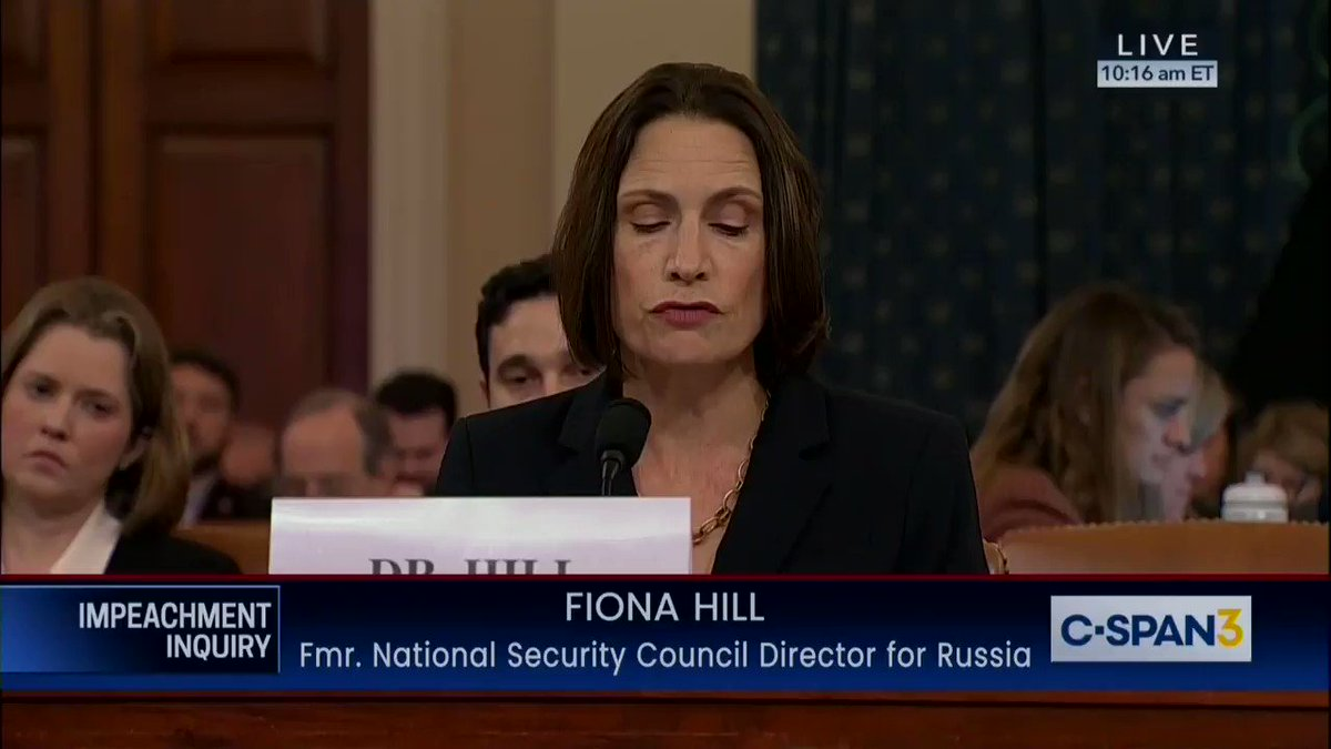 """Dr. Fiona Hill chilled the blood of every complicit Republican with this devastating foreshadowing:  """"Putin & Russian security services act like a Super PAC(!) They deploy millions of dollars to weaponize political opposition research & false narratives.""""👇🏼"""