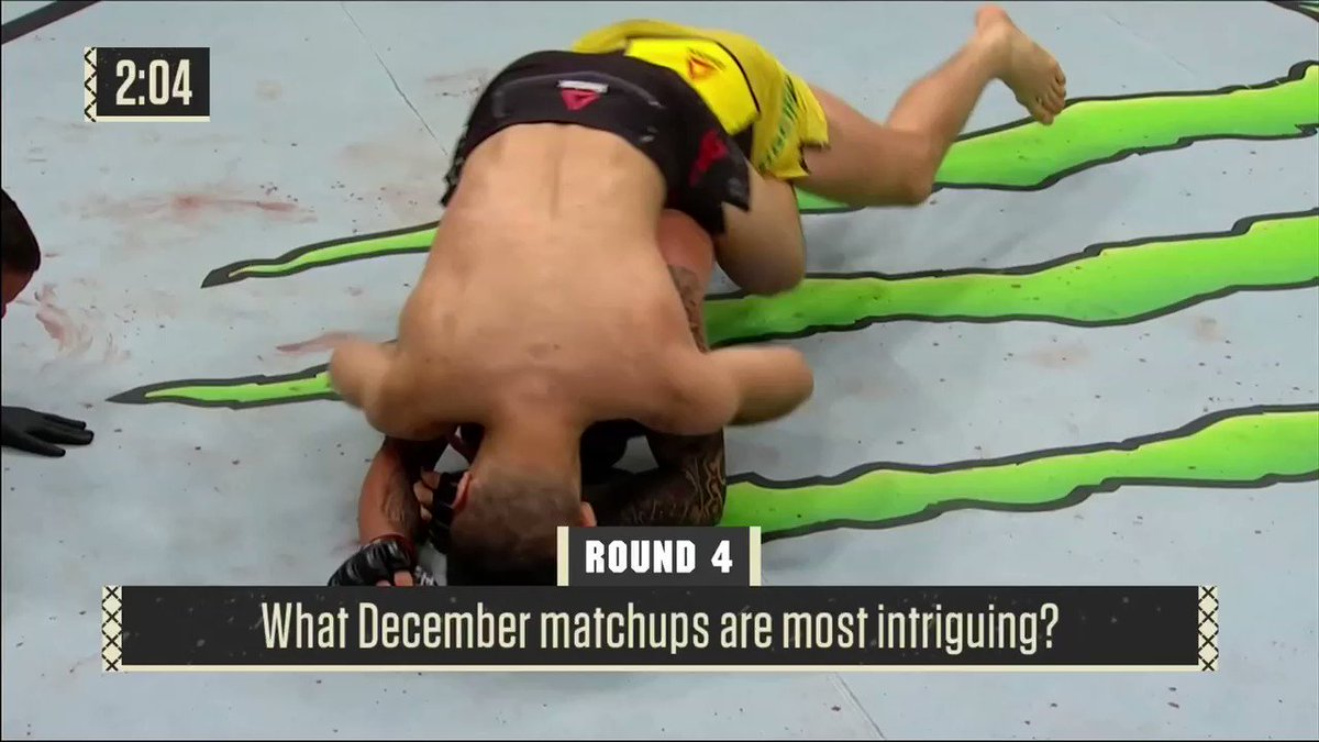 So we were asked on yesterday's episode of Ariel & The Bad Guy which UFC fight we were most looking forward to in DECEMBER, and Chael picked ... Miocic vs. DC 3. Que?